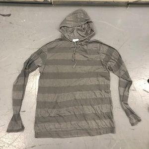 Splendid Grey stripe hoodie tee
